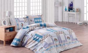 Posteljnina King Ranforce Penty Blue