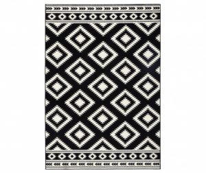 Preproga Ethno Black and Cream 120x170 cm