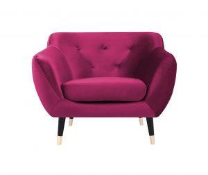 Fotelj Amelie Pink Black