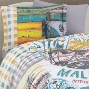Posteljnina Single Poplin Malibu Beach