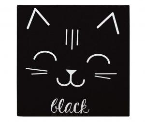 Slika Cat Black 27x27 cm