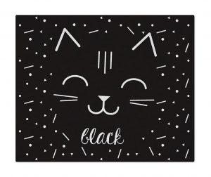 Preproga Cat Black White 90x110 cm