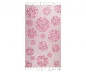 Kopalniška brisača Peshtemal Fauna Pink 95x180 cm