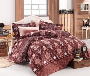 Posteljnina King Sateen Supreme Vavien Brown