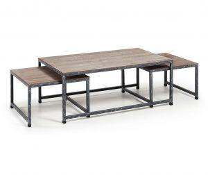 Set 3 klubskih mizic Erutna