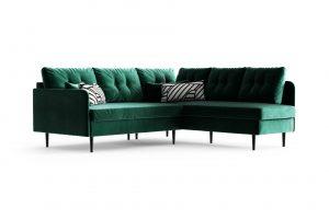 Desna kotna sedežna garnitura Memphis Emerald