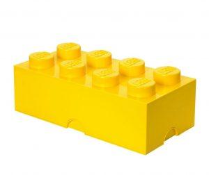 Škatla s pokrovom Lego Rectangular Extra Yellow